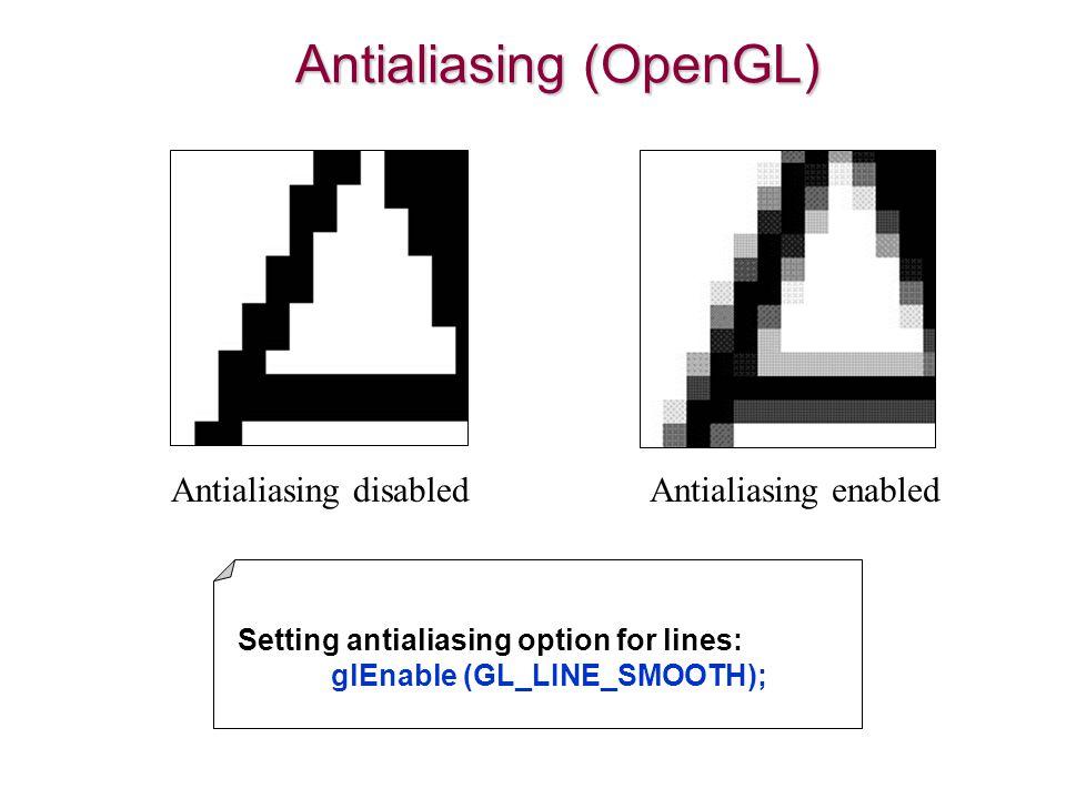 Antialiasing (OpenGL)