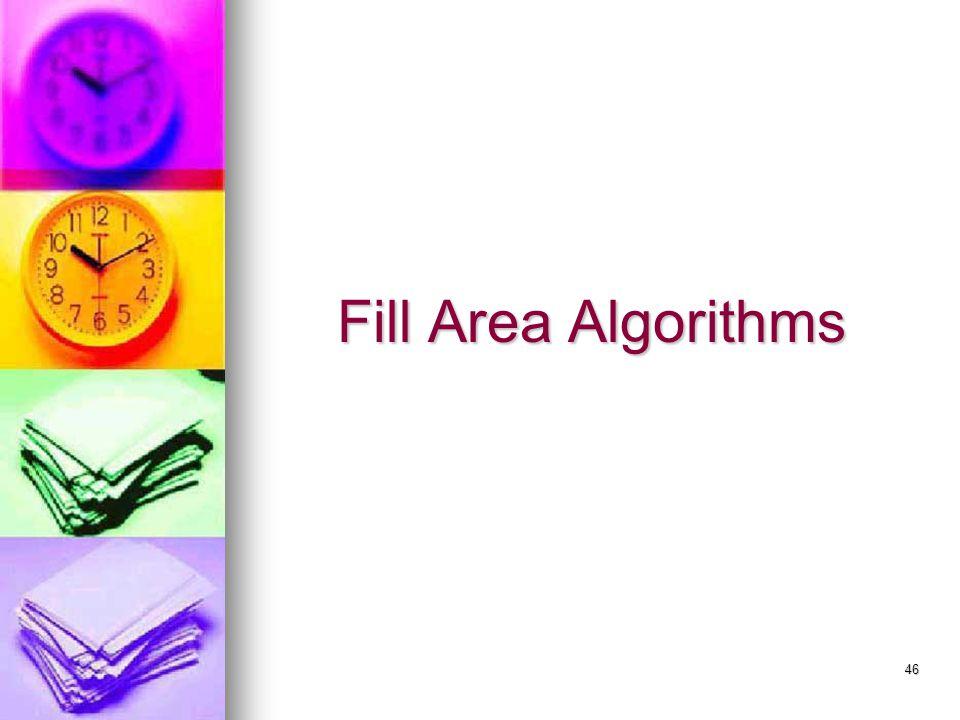Fill Area Algorithms