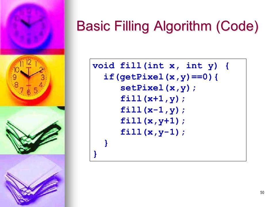 Basic Filling Algorithm (Code)