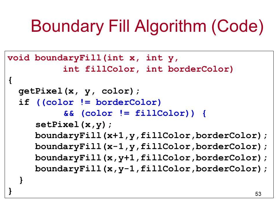 Boundary Fill Algorithm (Code)
