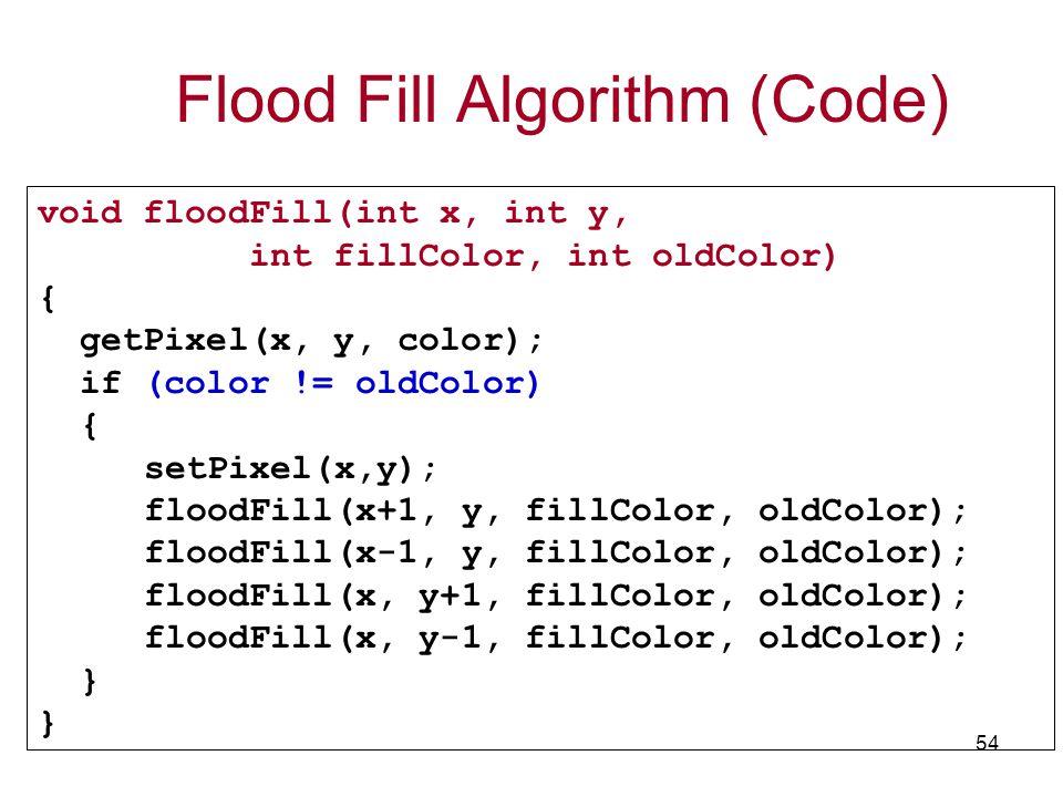 Flood Fill Algorithm (Code)