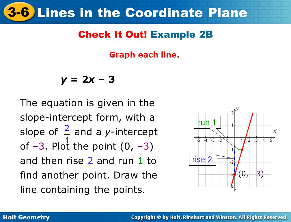 Check It Out! Example 2B y = 2x – 3