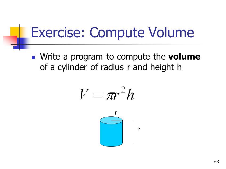 Exercise: Compute Volume