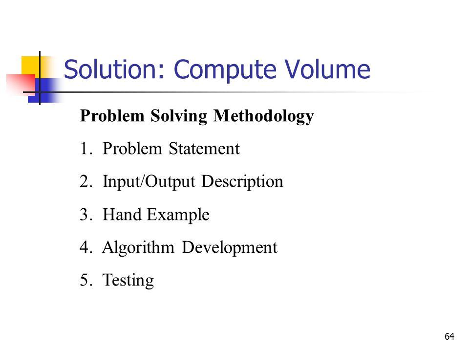 Solution: Compute Volume