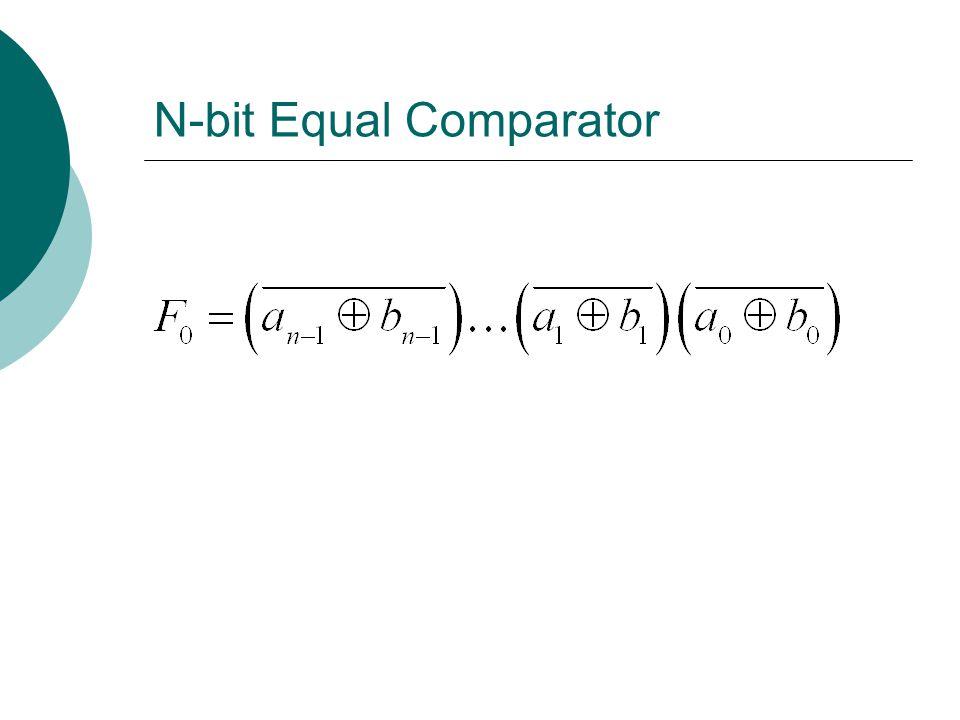 N-bit Equal Comparator