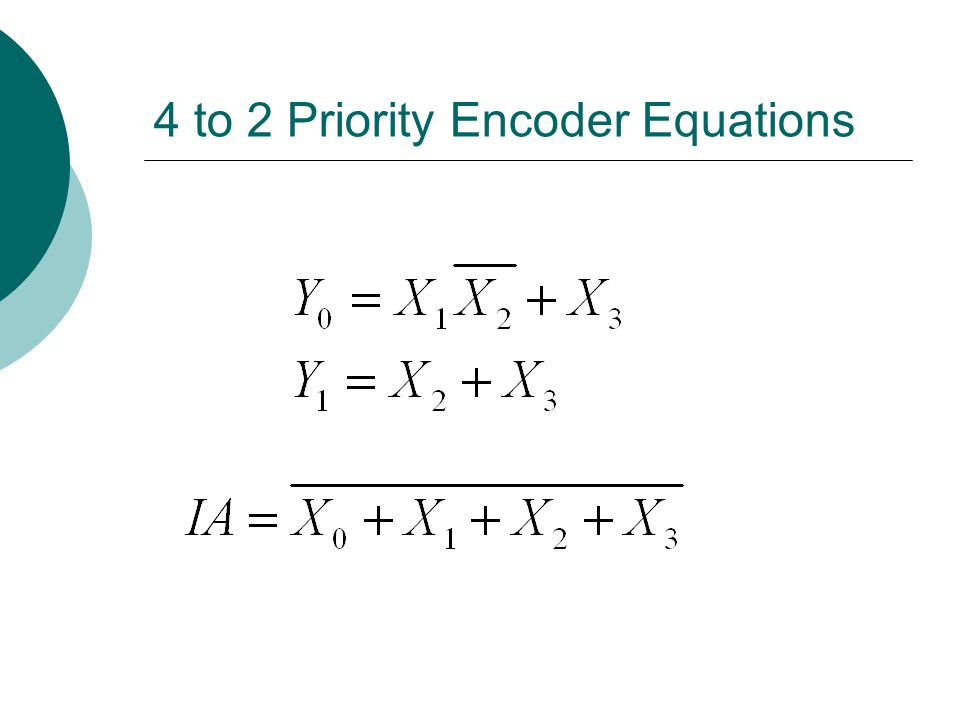 4 to 2 Priority Encoder Equations