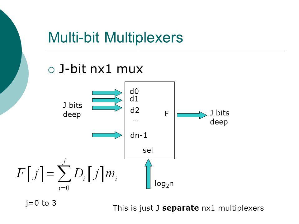 Multi-bit Multiplexers