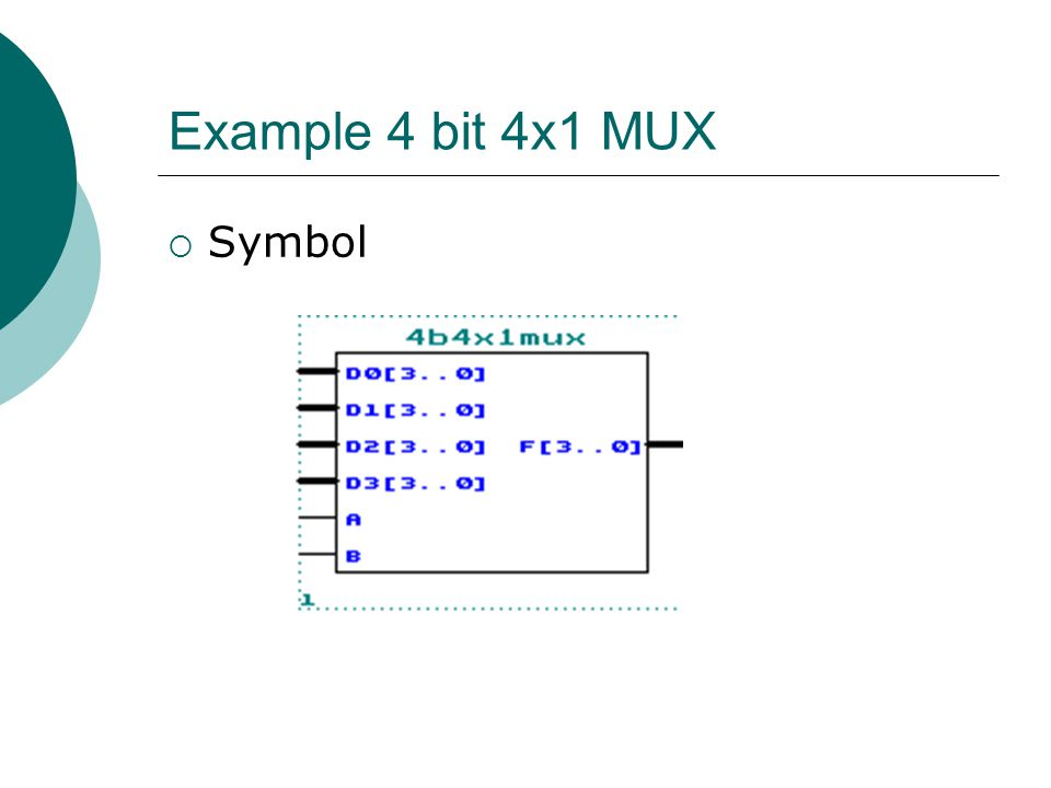 Example 4 bit 4x1 MUX Symbol