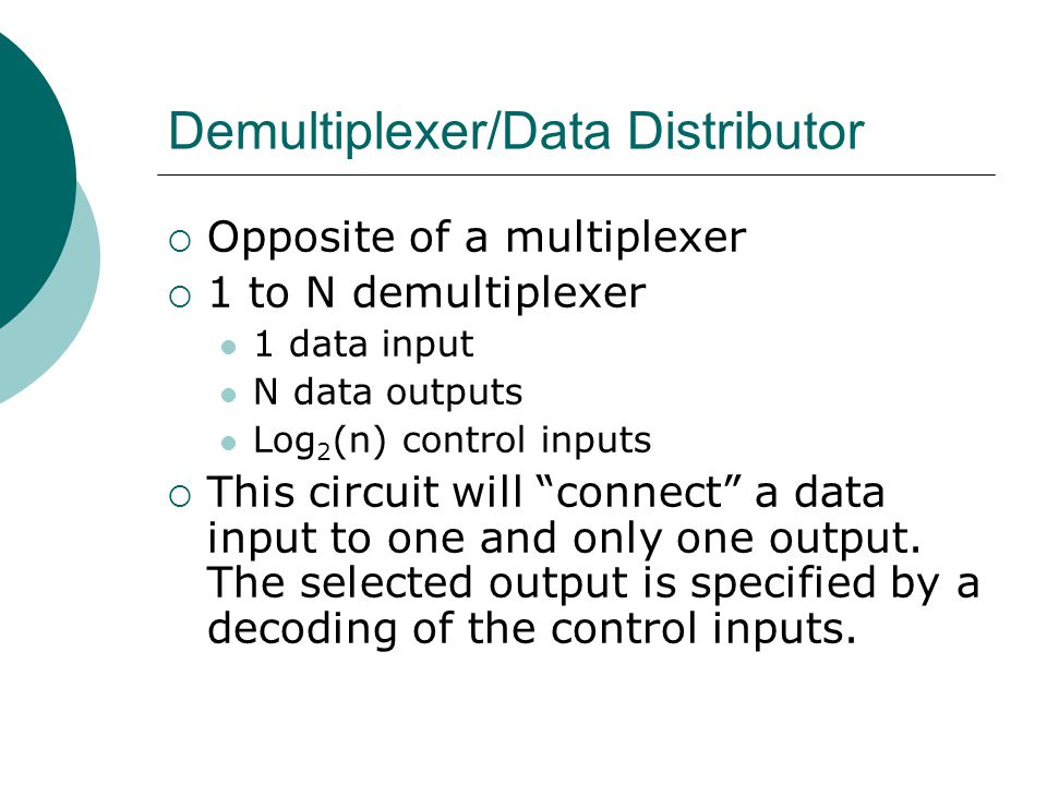 Demultiplexer/Data Distributor