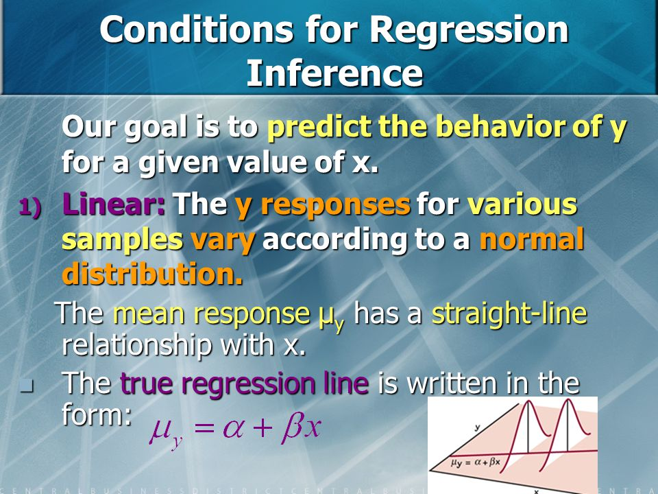 Conditions for Regression Inference
