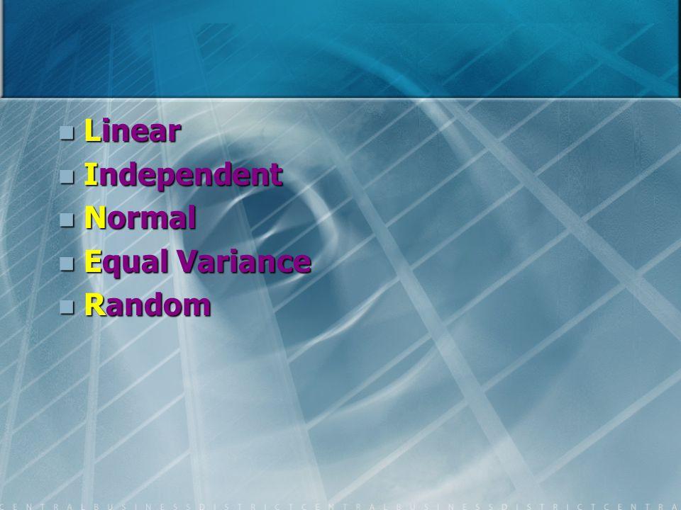 Linear Independent Normal Equal Variance Random