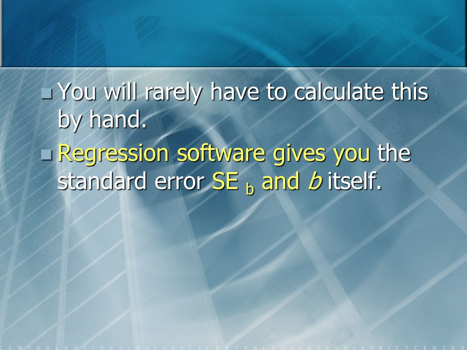 You will rarely have to calculate this by hand.