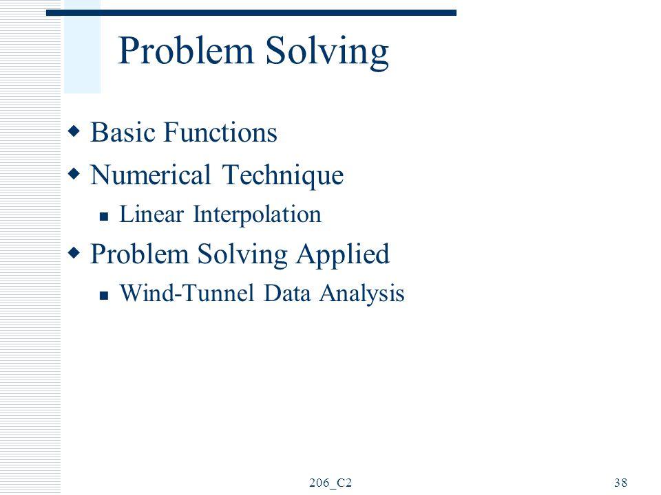 Problem Solving Basic Functions Numerical Technique