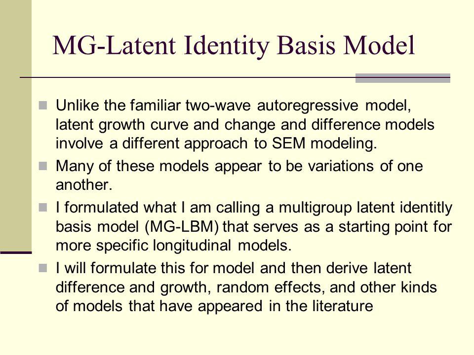 MG-Latent Identity Basis Model