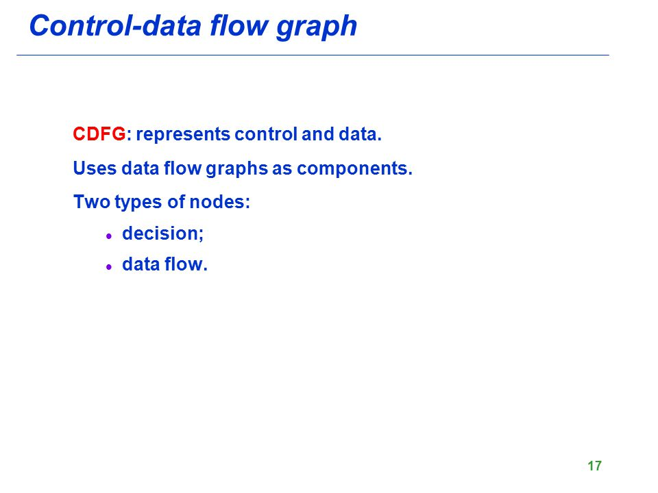 Control-data flow graph