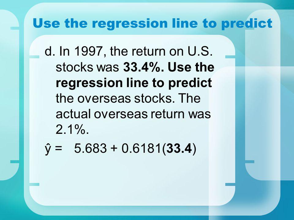 Use the regression line to predict