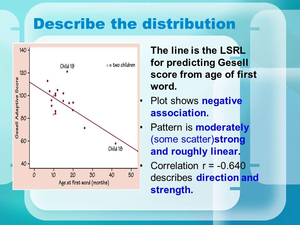 Describe the distribution