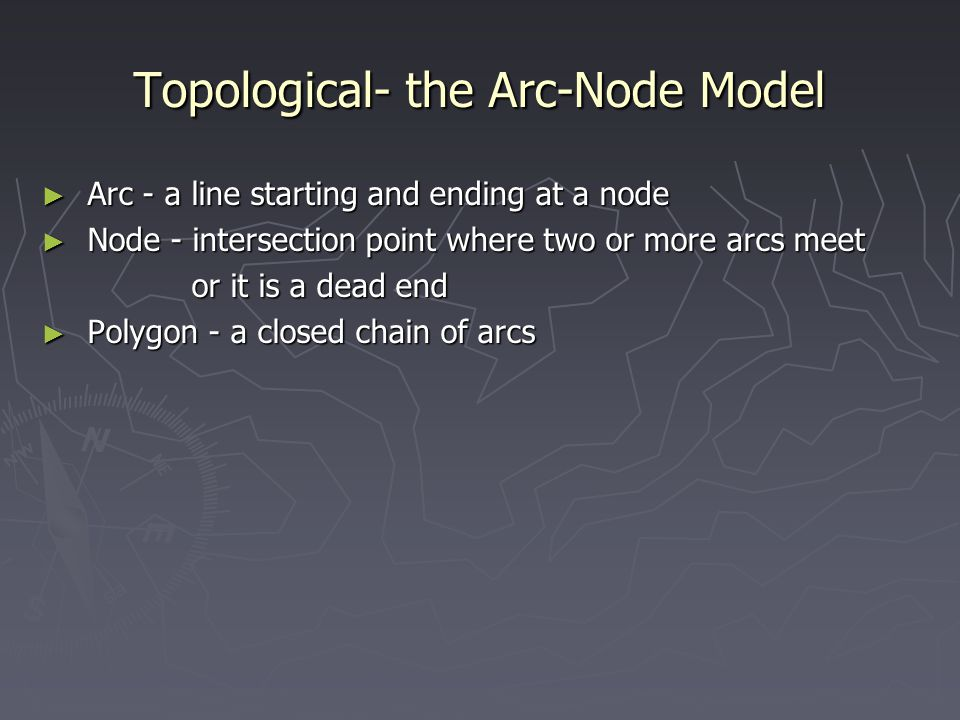 Topological- the Arc-Node Model