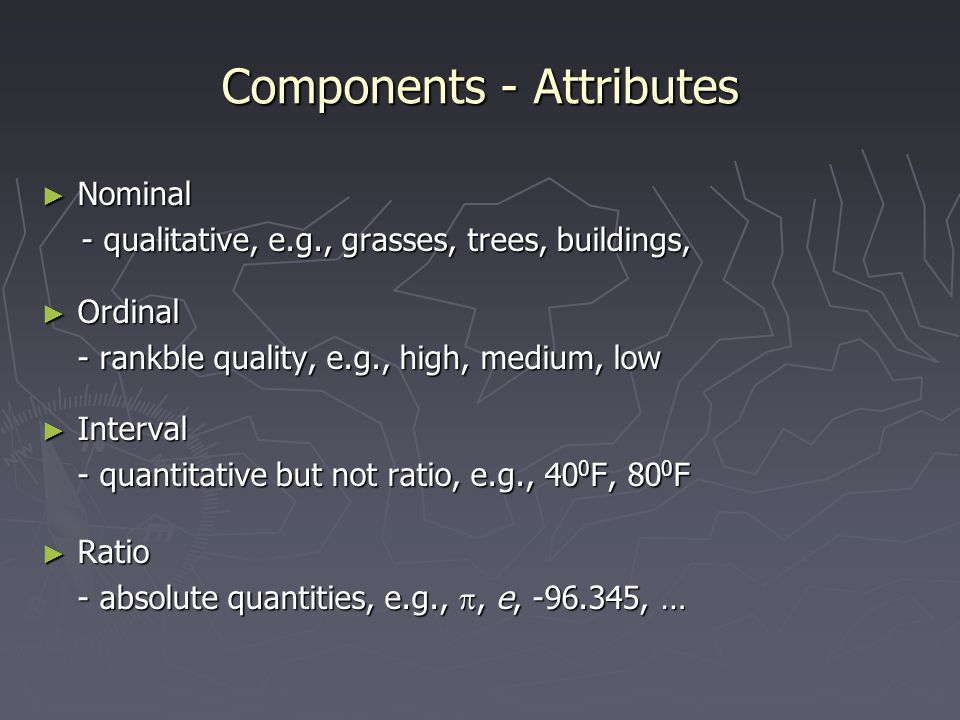 Components - Attributes