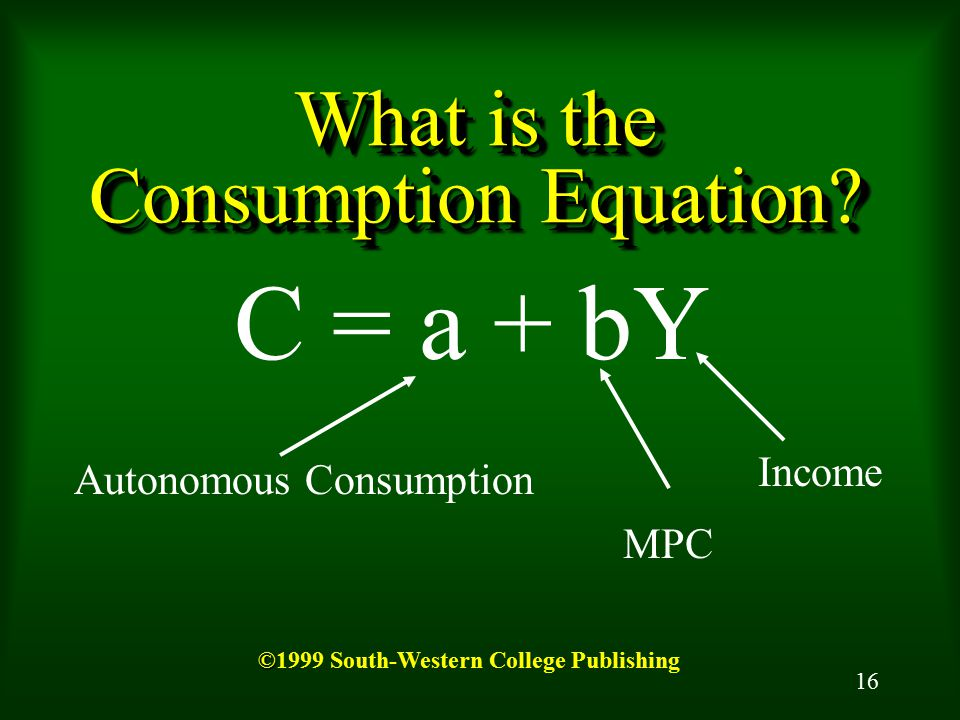 What is the Consumption Equation