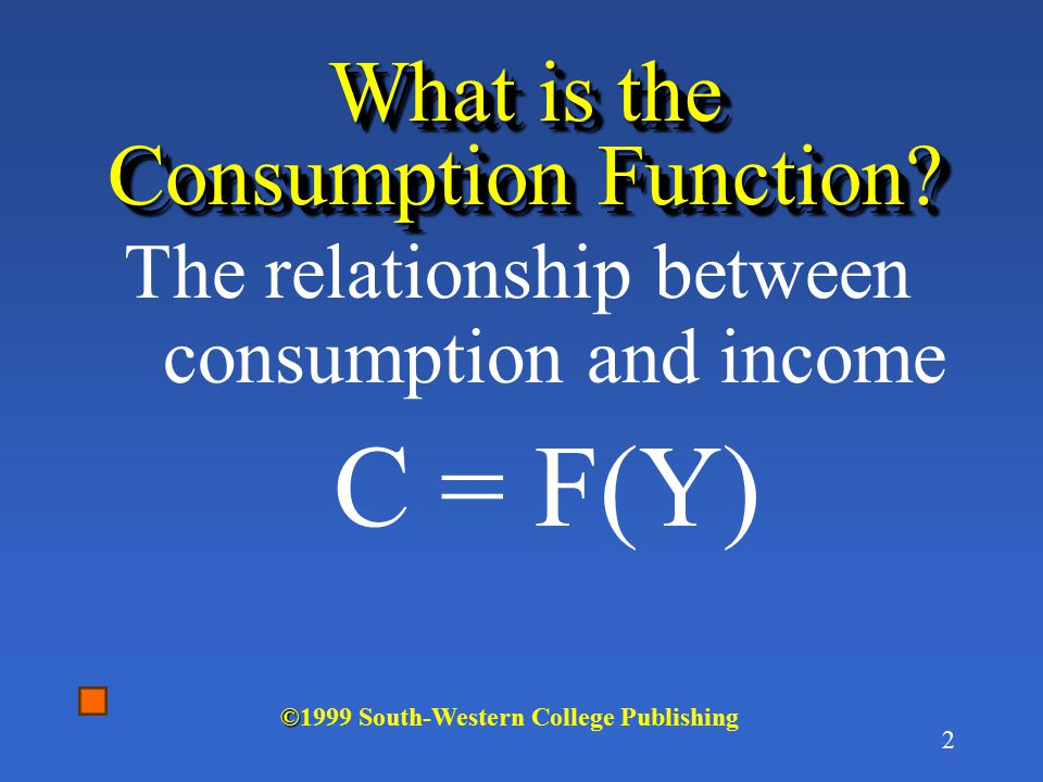 What is the Consumption Function