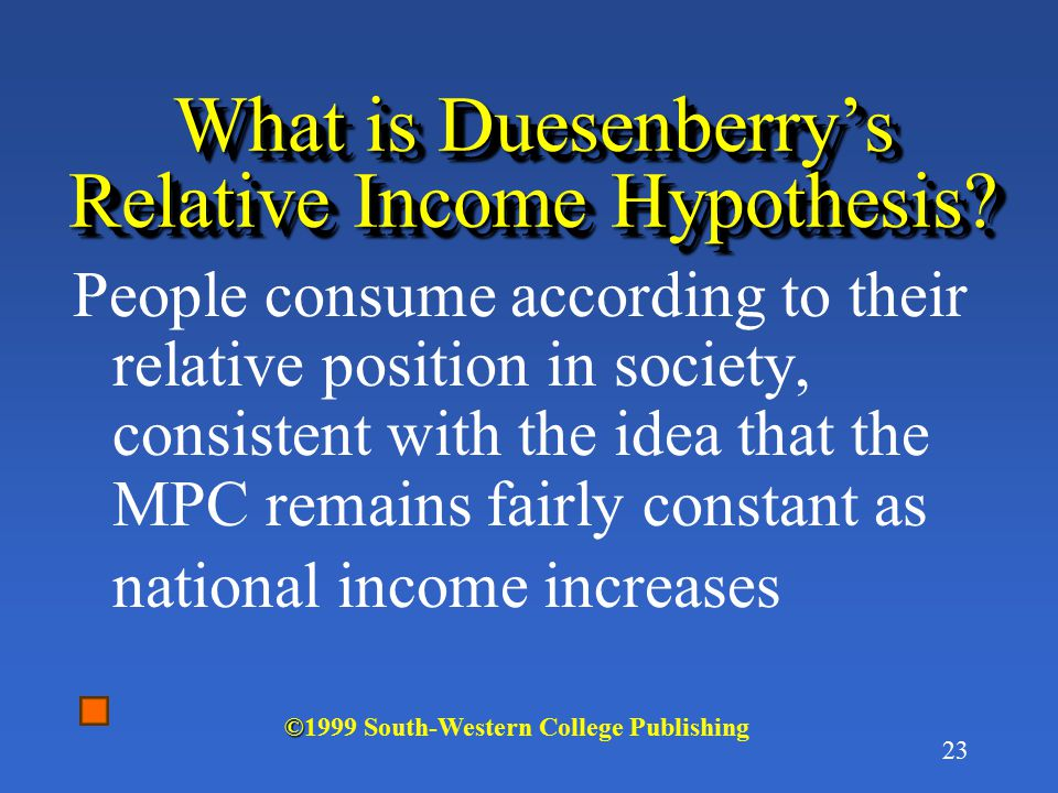 What is Duesenberry's Relative Income Hypothesis