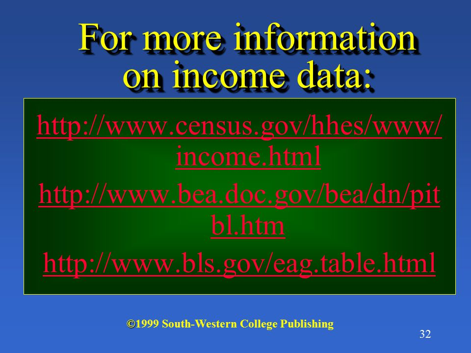 For more information on income data: