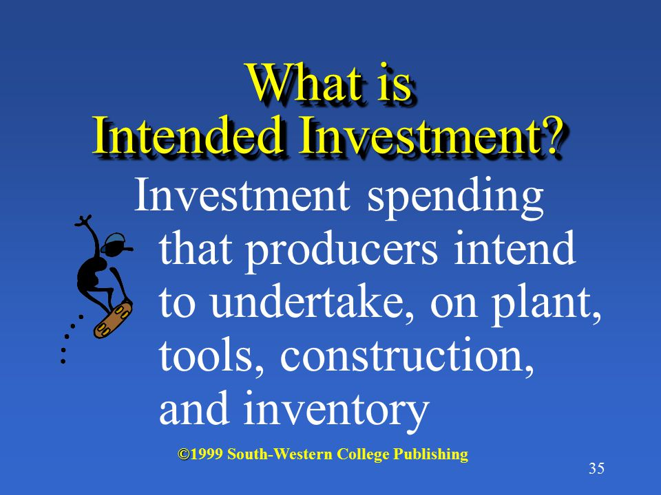 What is Intended Investment