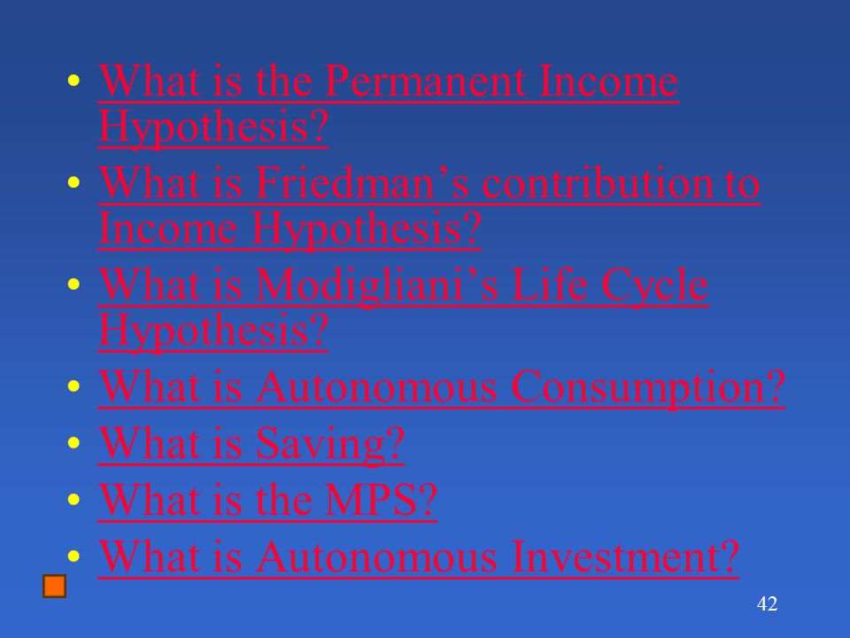 What is the Permanent Income Hypothesis