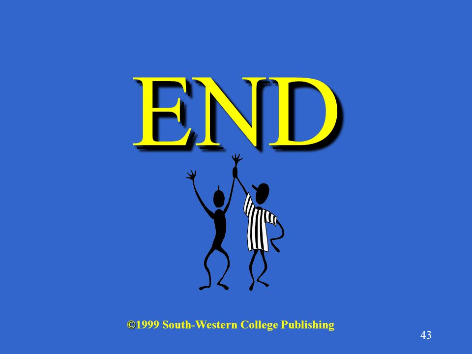 END ©1999 South-Western College Publishing