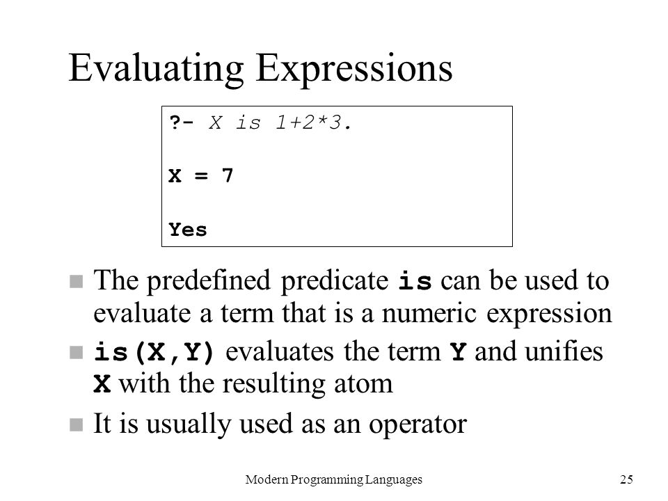 Evaluating Expressions
