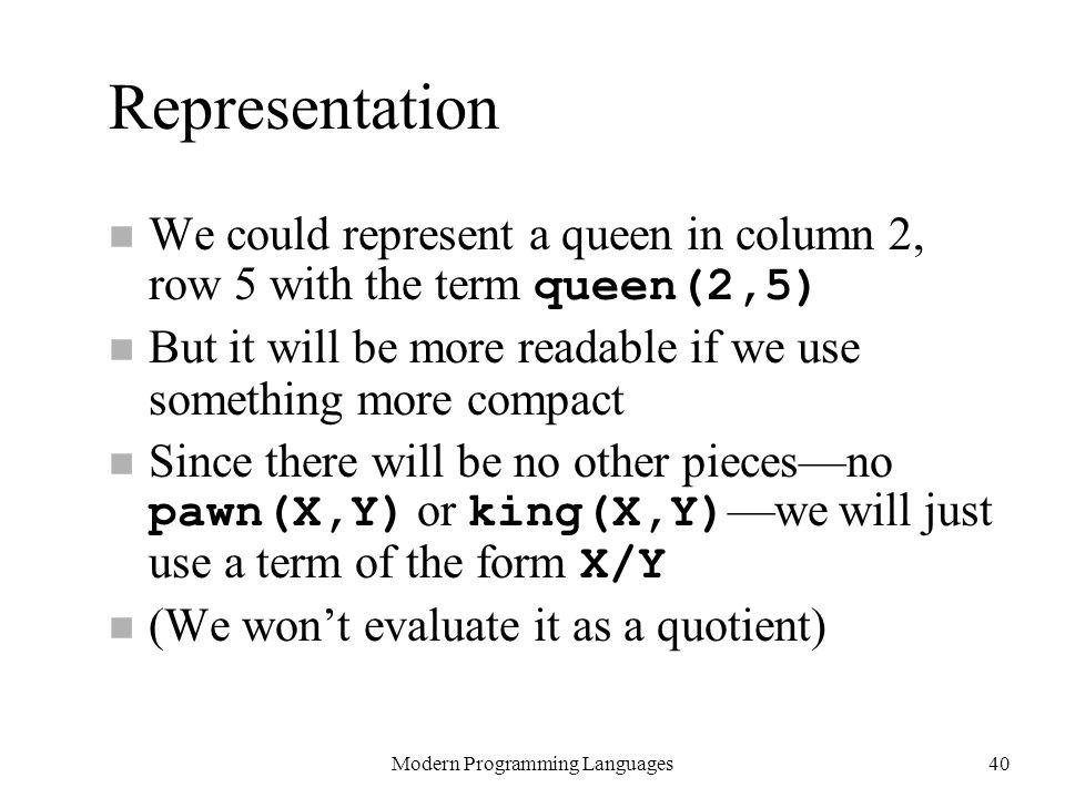 Modern Programming Languages