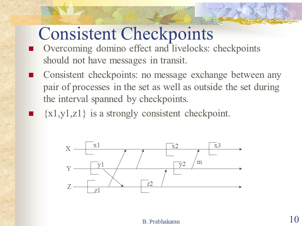 Consistent Checkpoints