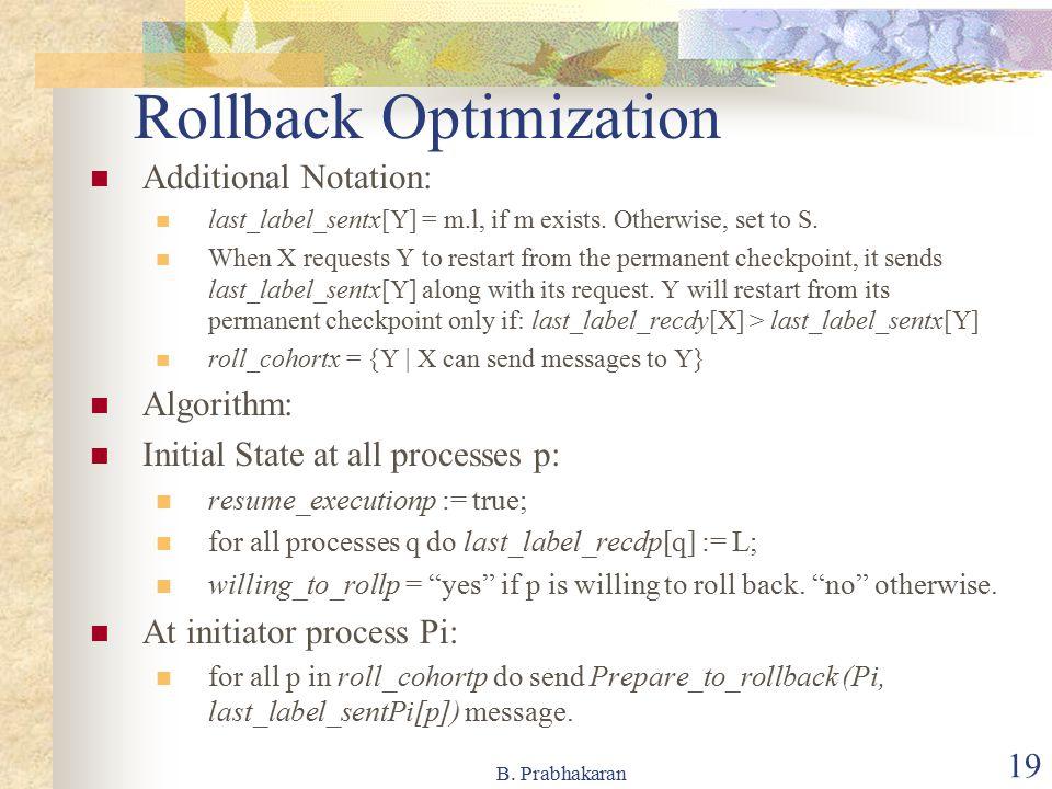 Rollback Optimization