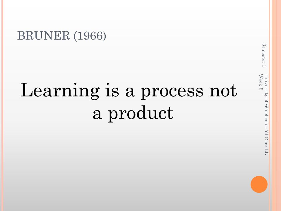 Learning is a process not a product