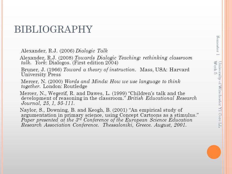 BIBLIOGRAPHY Semester 1.