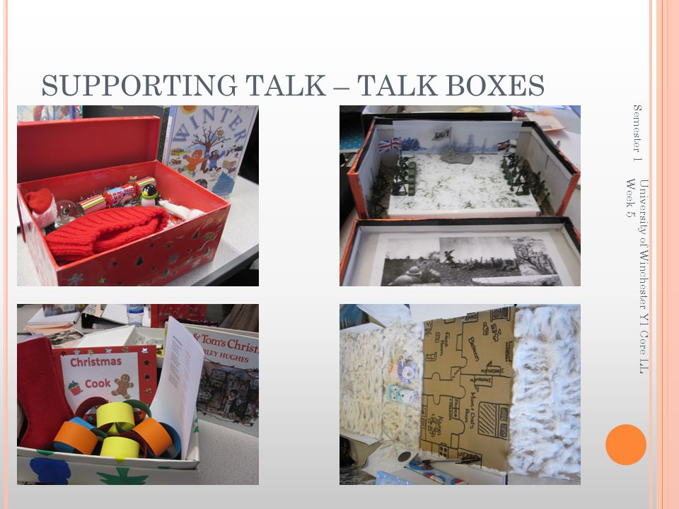 SUPPORTING TALK – TALK BOXES