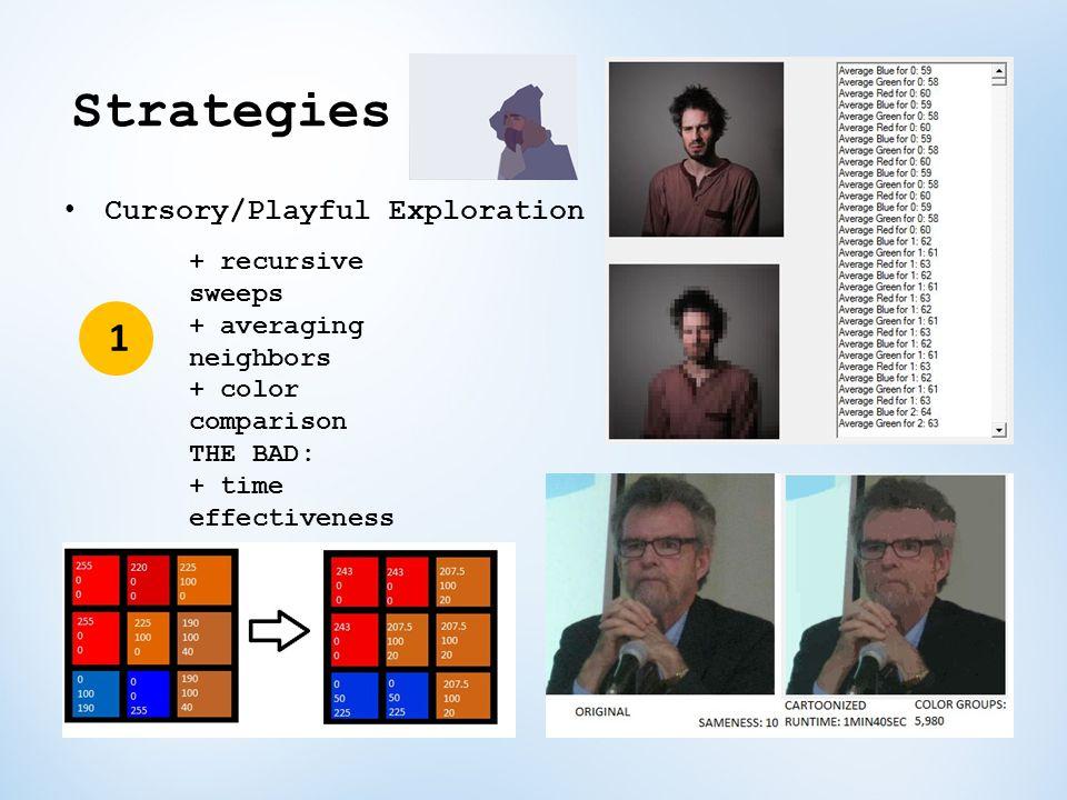 Strategies 1 Cursory/Playful Exploration + recursive sweeps