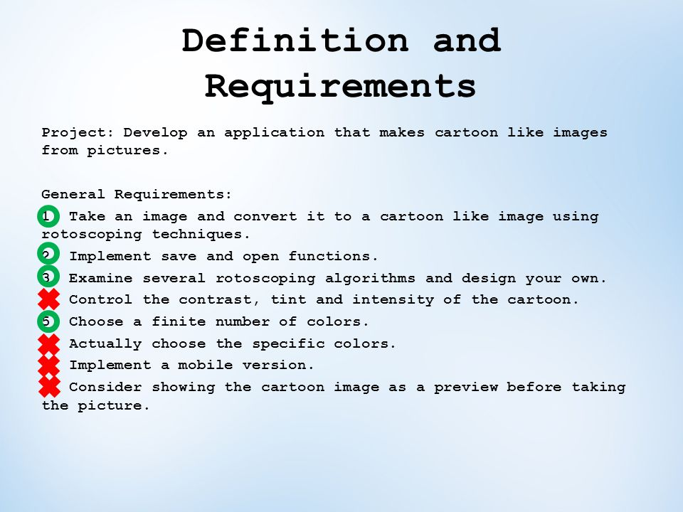 Definition and Requirements