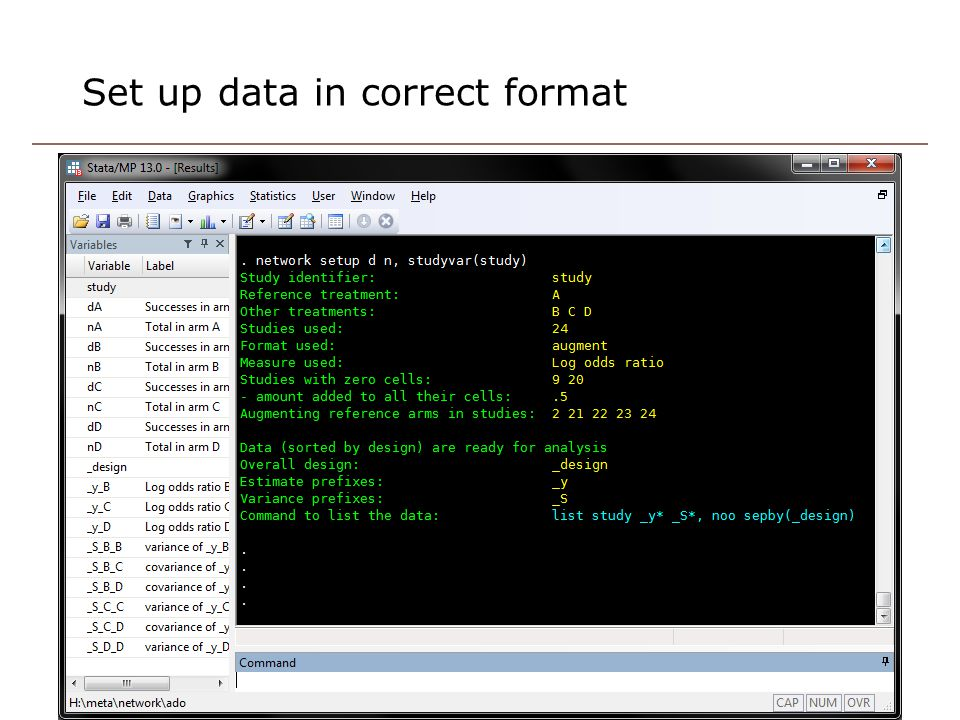 Set up data in correct format