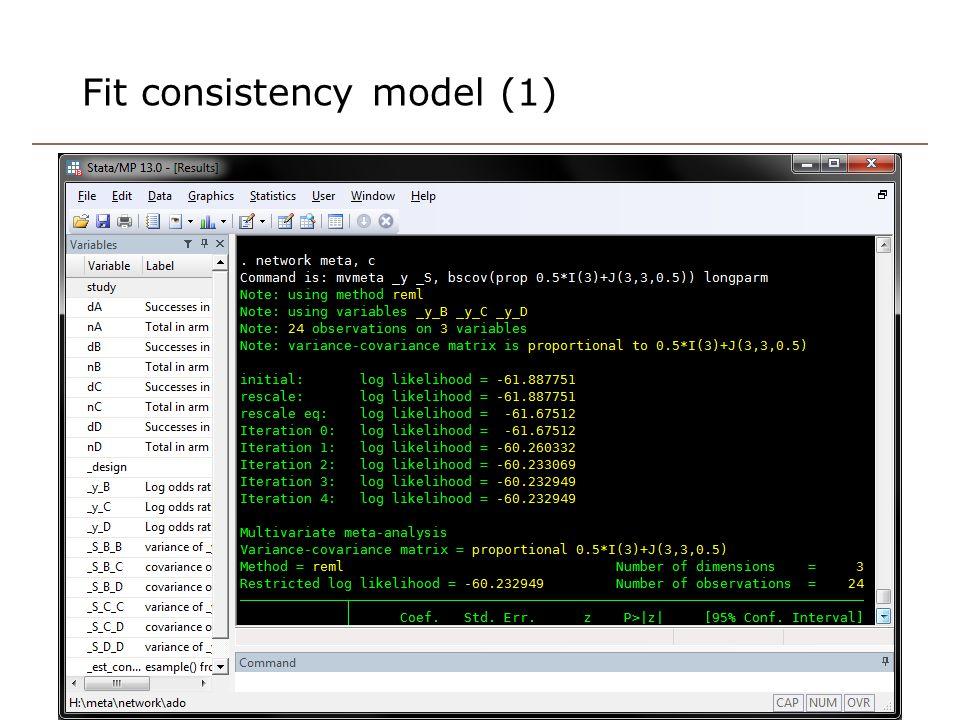 Fit consistency model (1)