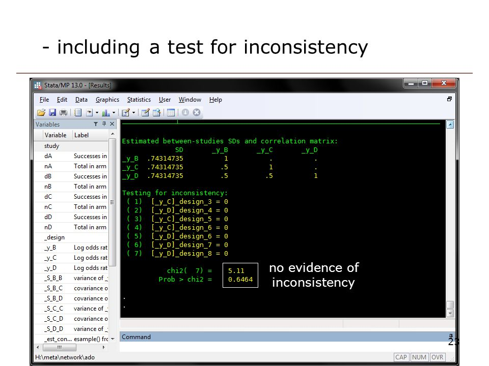 - including a test for inconsistency