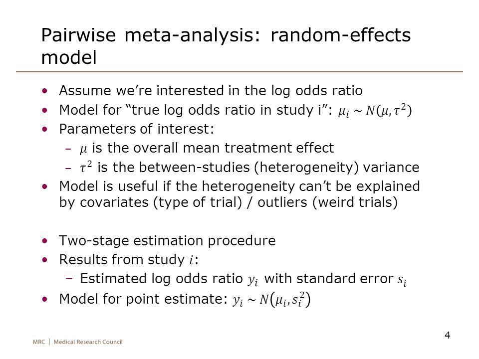 Pairwise meta-analysis: random-effects model
