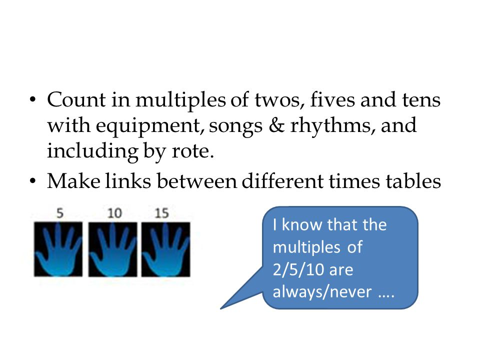 Make links between different times tables