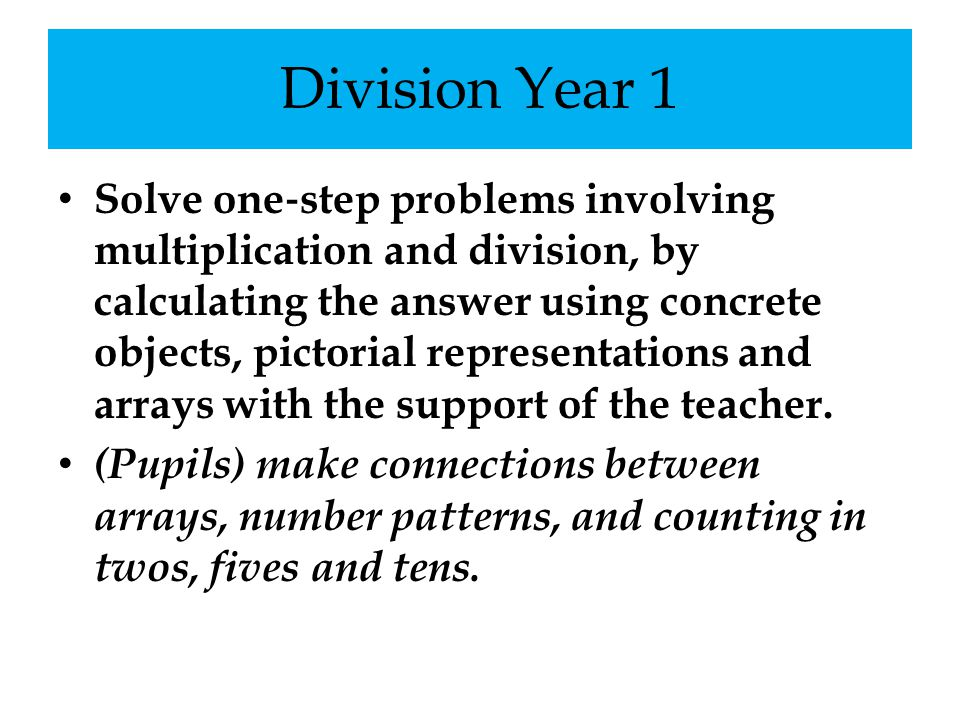 Division Year 1