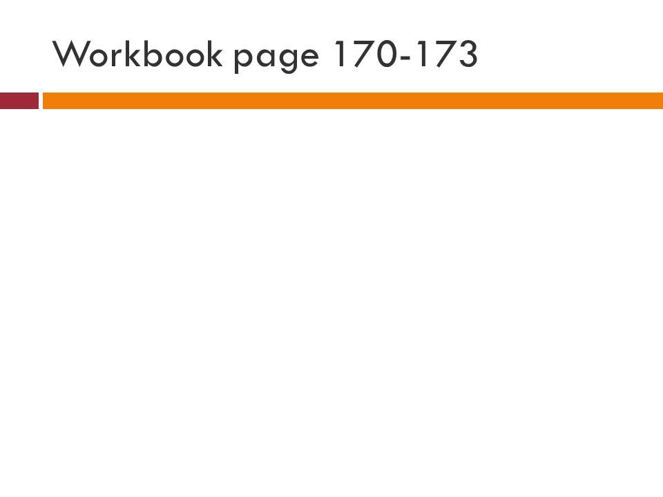 Workbook page 170-173