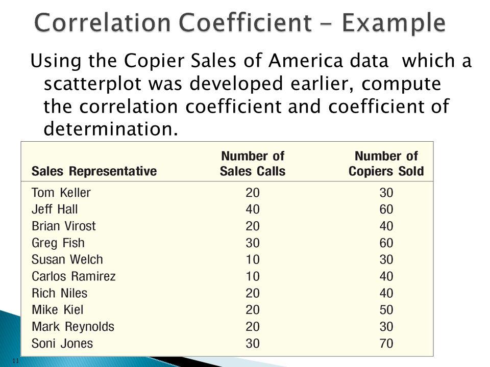 Correlation Coefficient - Example