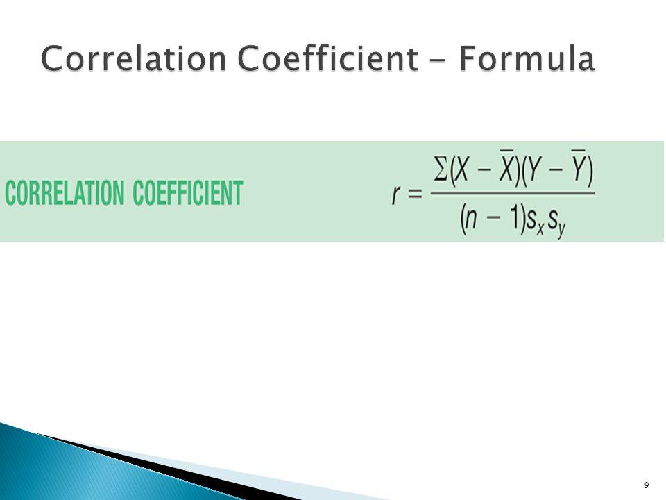 Correlation Coefficient - Formula