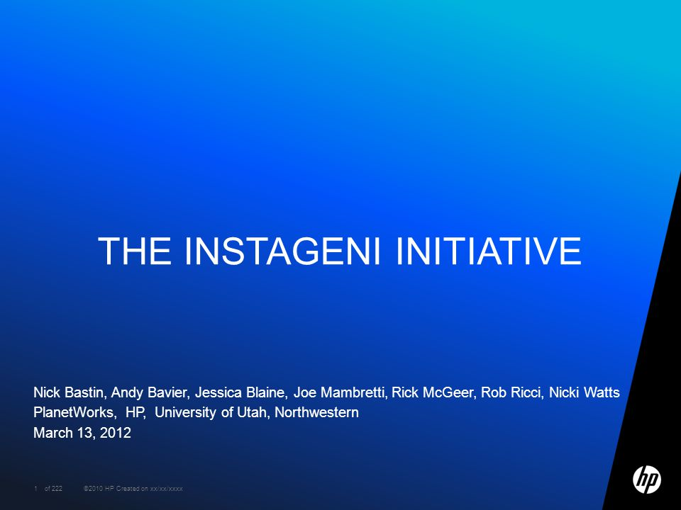 The Instageni Initiative