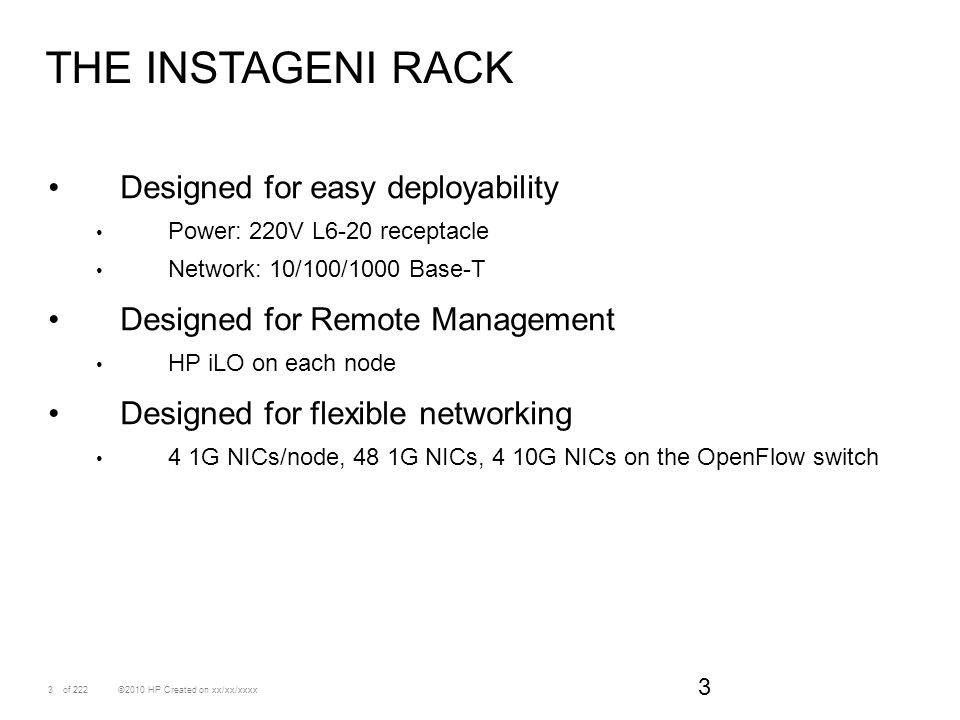 The instageni rack Designed for easy deployability
